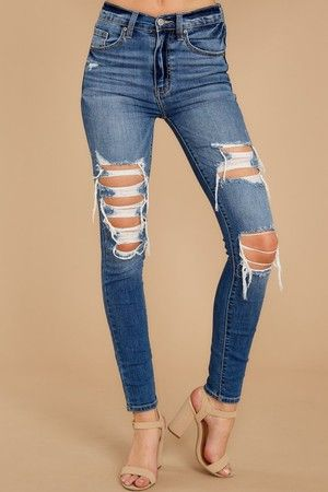 Be Melodramatic Medium Wash Distressed Skinny Jeans #leopardshoesoutfit