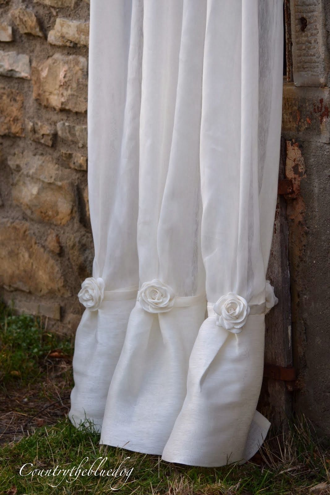 Tende raffinate in puro lino.....shabby chic? | curtains and pilows ...