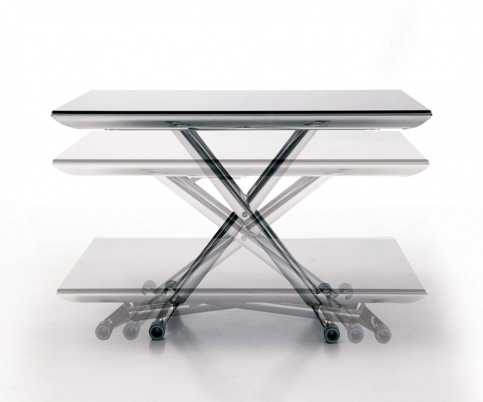 Ozzio Magic Couchtisch T100 Couchtisch Hohenverstellbar Verstellbarer Couchtisch Ausziehbarer Tisch
