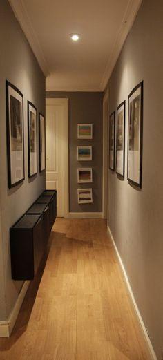 Resultado de imagen para pasillo interior moderno sala - Pared rustica interior ...