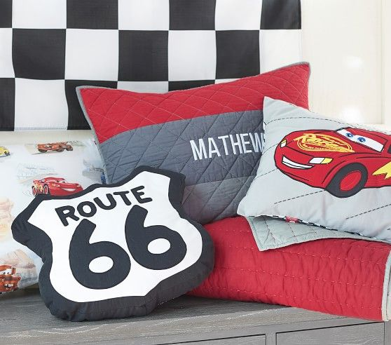 Disney&#8226;Pixar <em>Cars</em> Route 66 Shaped Decorative Pillow