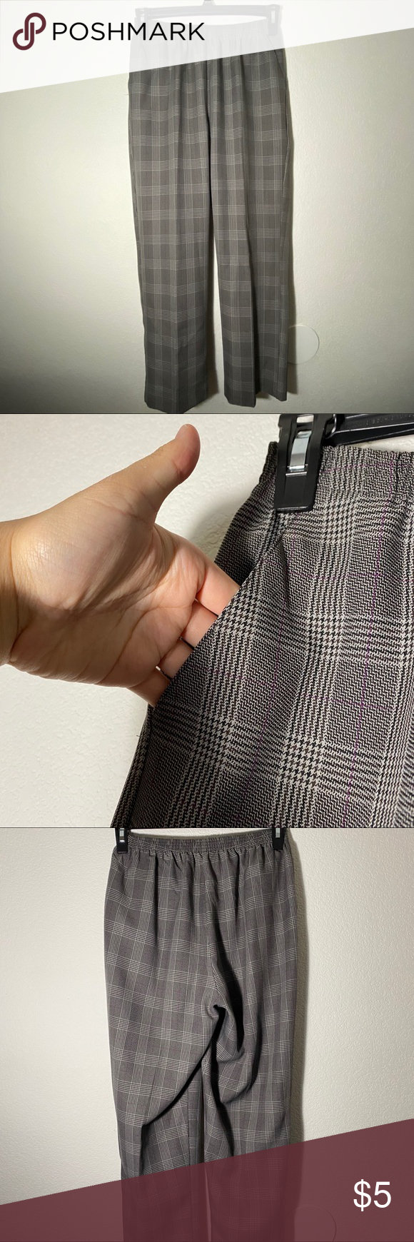 Photo of [ haband ] vintage plaid pants very cute! true to size :) cropped since it's f…