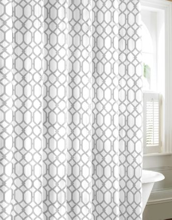 Tommy Bahama Shoretown Trellis Shower Curtain Pelican Grey