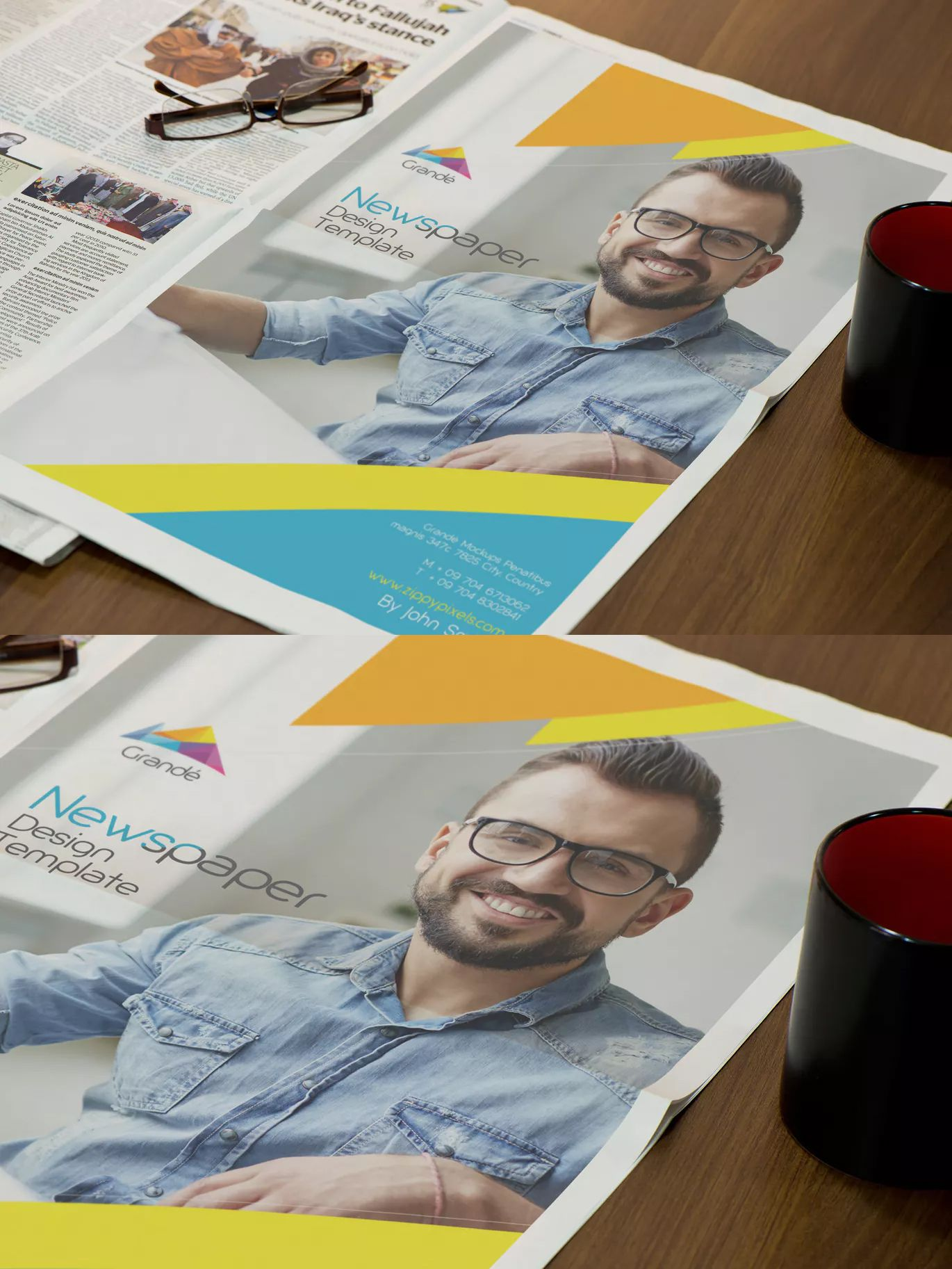Full Page Newspaper Ad Design Template Ai 100 Vector Cmyk