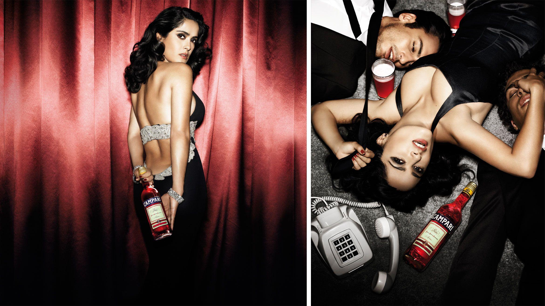 Salma Hayek Smuggles A Bottle Into 2007s Hotel Campari ...