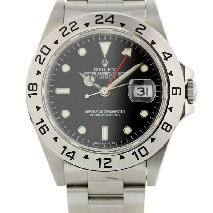 157a6e2719d Rolex Explorer II Automatic Chronometer Black Dial Men s Watch 16570 BKSO