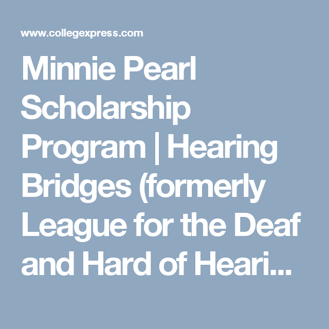 scholarships for the deaf