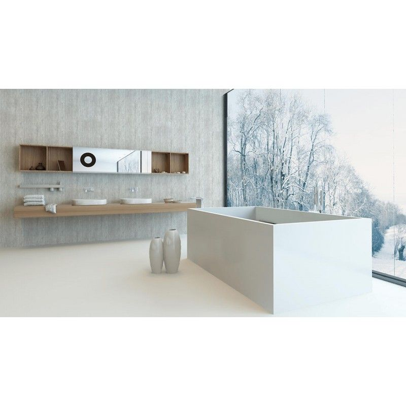 Aquabord 2 Wall Shower Panel Kit - Travertine Grey PVC T&G Shower ...