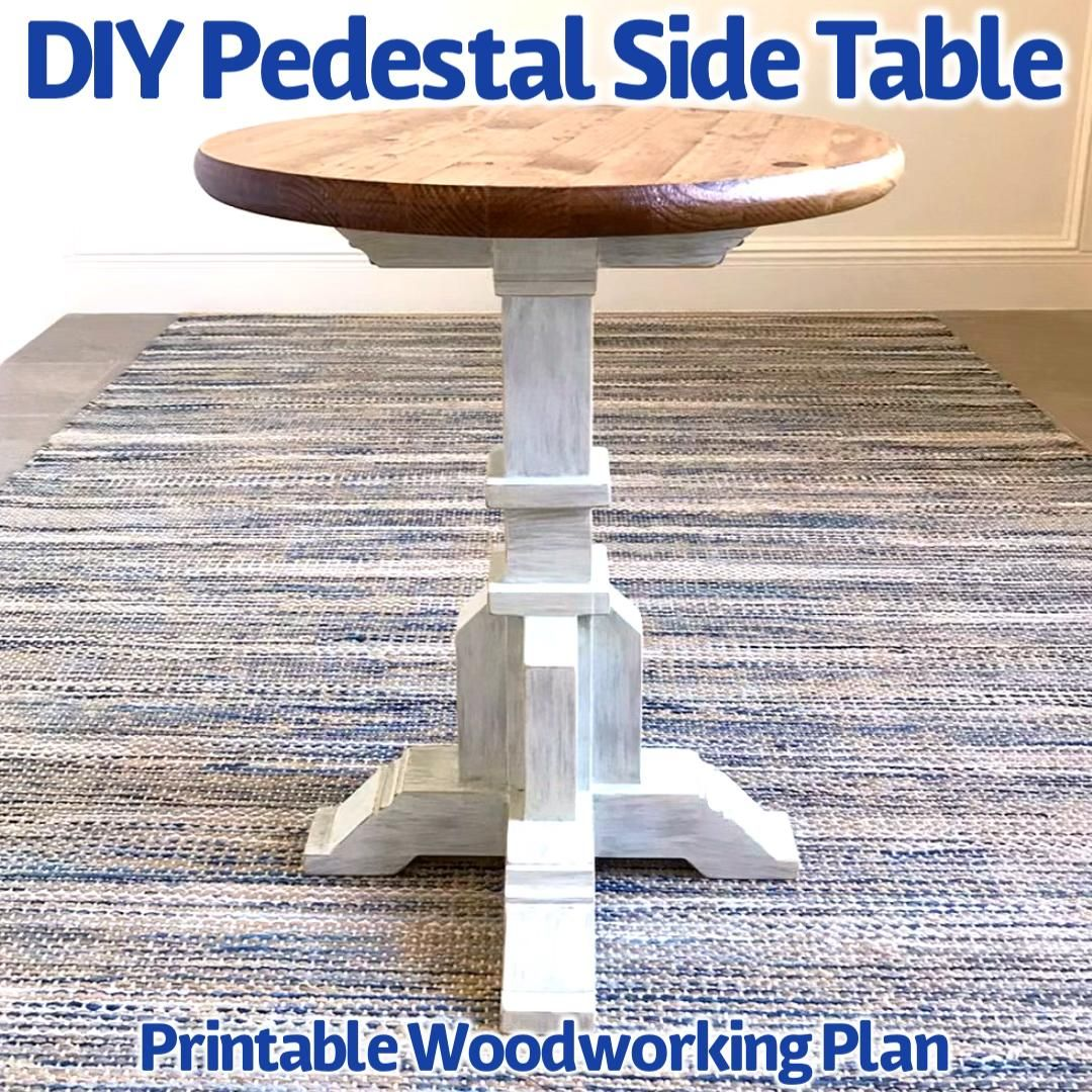 DIY Side Table Woodworking Plan - $50 Build