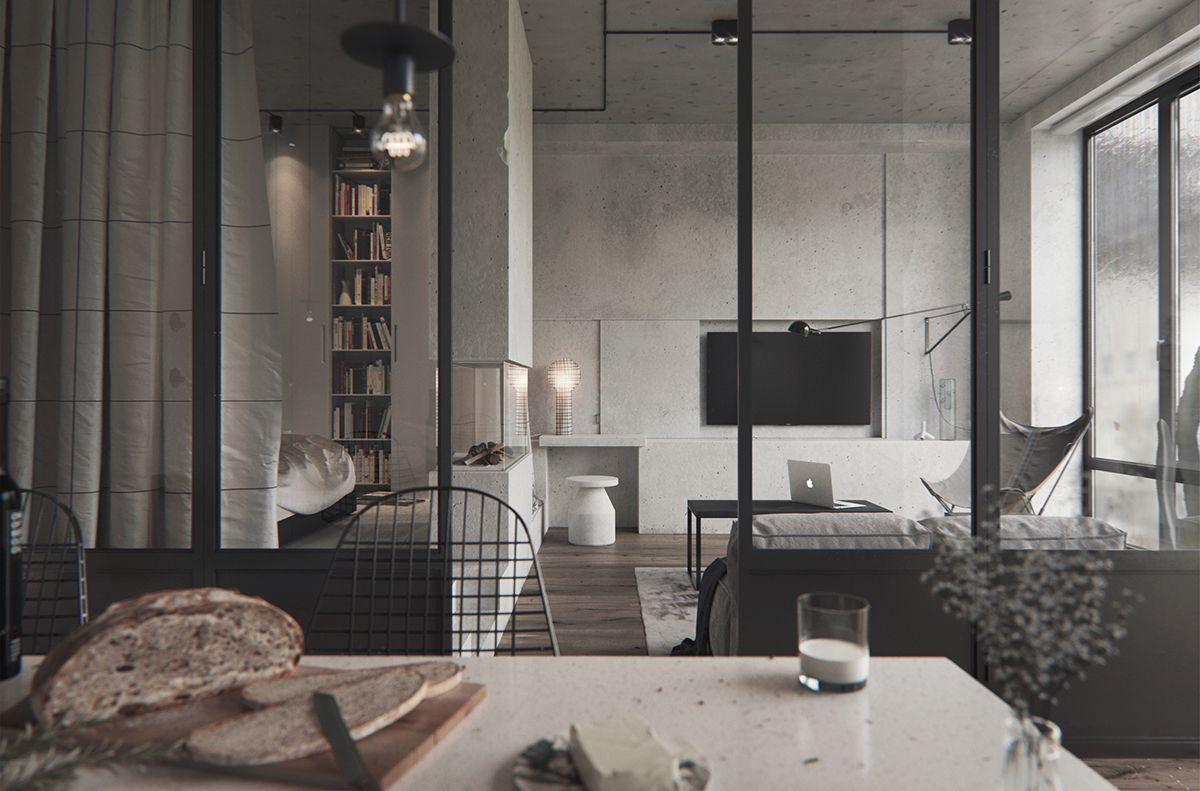 bw interior in pechersky on behance presentation pinterest rh pinterest es