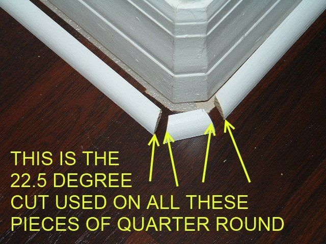 Installing Quarter Round On Round Corners Baseboard Trim Moldings And Trim Baseboards