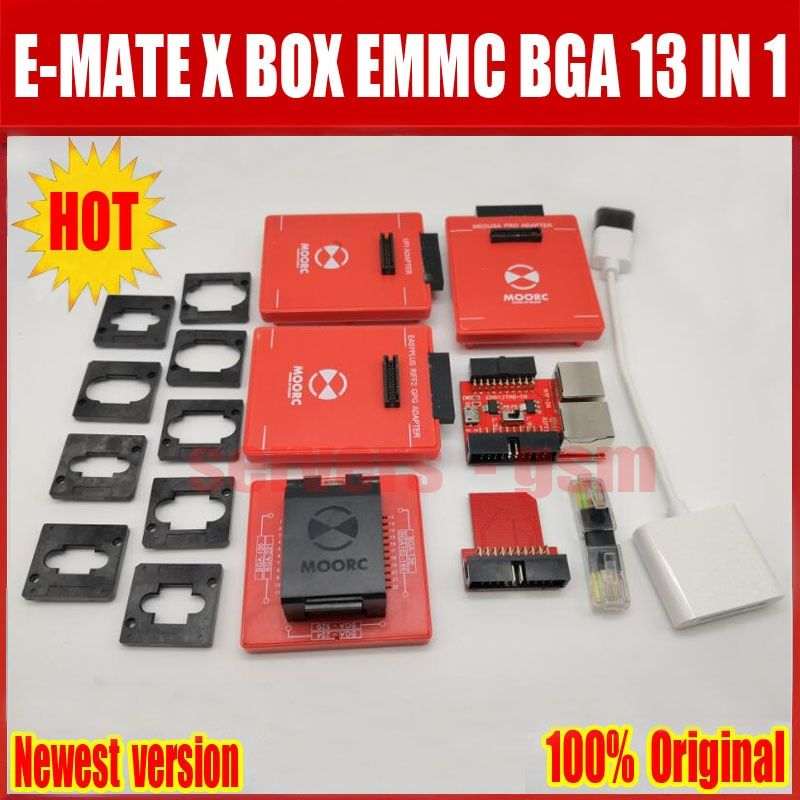 Newes E mate box E-mate X EMMC BGA 13 IN 1 Support BGA100