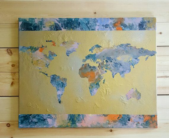 Hey i found this really awesome etsy listing at httpsetsy world map acrylic painting gumiabroncs Image collections