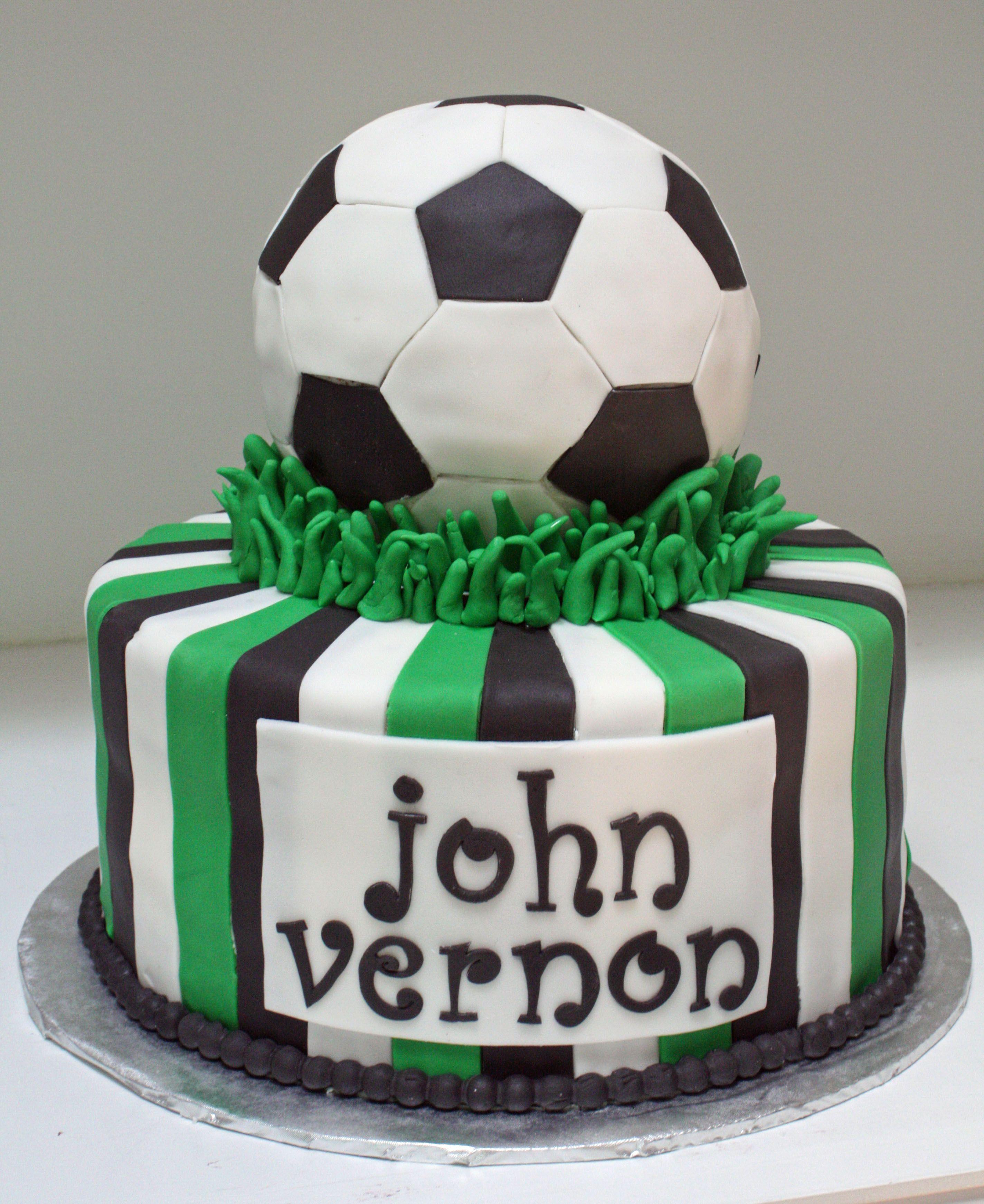 Soccer Cake: Soccer Ball Cake - Frosted Bake Shop.