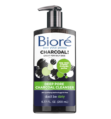 Bioré Deep Pore Charcoal Cleanser Oily skin care