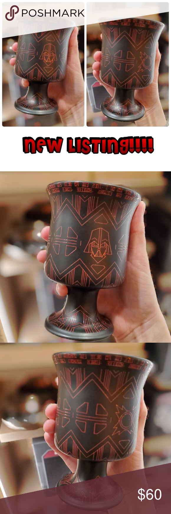 DISNEY PARKS STAR WARS EDGE DARTH VADER MUG 100% AUTHENTIC AND BRAND NEW FROM DISNEYLAND STAR WARS LAND  *****PRICE FOR ONE [1] CUP*****    ENJOY YOUR FAVORITE HOT/COOL BEVERAGE WITH THIS DISNEY PARKS EXCLUSIVE STAR WARS GALAXY EDGE DARK VADER CERAMIC MUG. DRINK IN STYLE AND MAKETHOSE AROUND YOU ENVIOUS!   HOT/COLD BEVERAGES  CONTRAST HANDLE  HIGH GLOSS CONTRAST GLAZE INTERIOR  CERAMIC  IMPORTED Disney Kitchen Coffee & Tea Accessories #disneykitchen