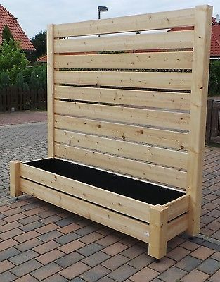 sichtschutz zaun l rche blumenkasten h 180 x b 200. Black Bedroom Furniture Sets. Home Design Ideas