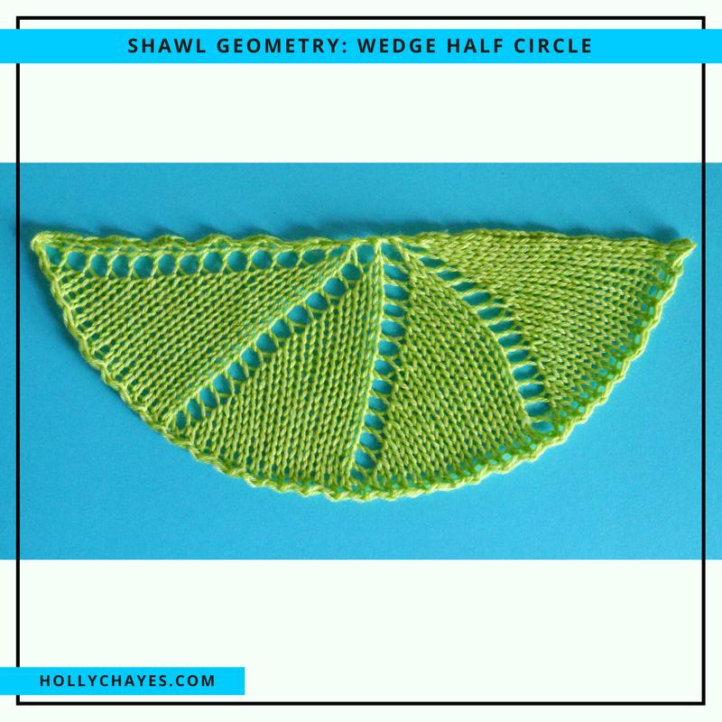 Holly Chayes Shawl Geometry Half Circles Half Circle Shawl Circle