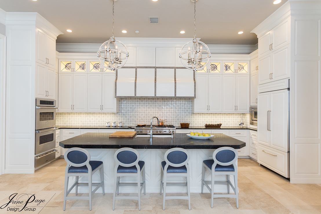 hooked on whitekitchens love the pop of blue www