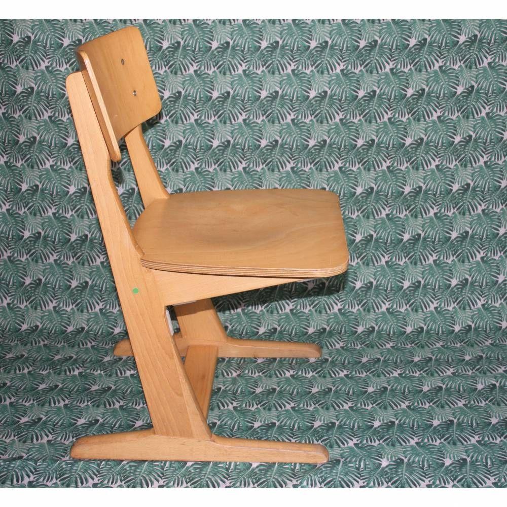 Holzstuhl Fur Kinder Vintage Schulstuhl Holzstuhle Stuhle Holz