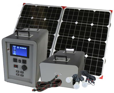Portable Solar Generator 1500 Watt With Expansion Battery And 100 Watt Solar Panel 100 Watt Solar Panel Solar Panel System Portable Solar Power