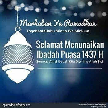 Semoga Dapat Menjalankan Puasa Di Bulan Ramadhan Sekarang Amin