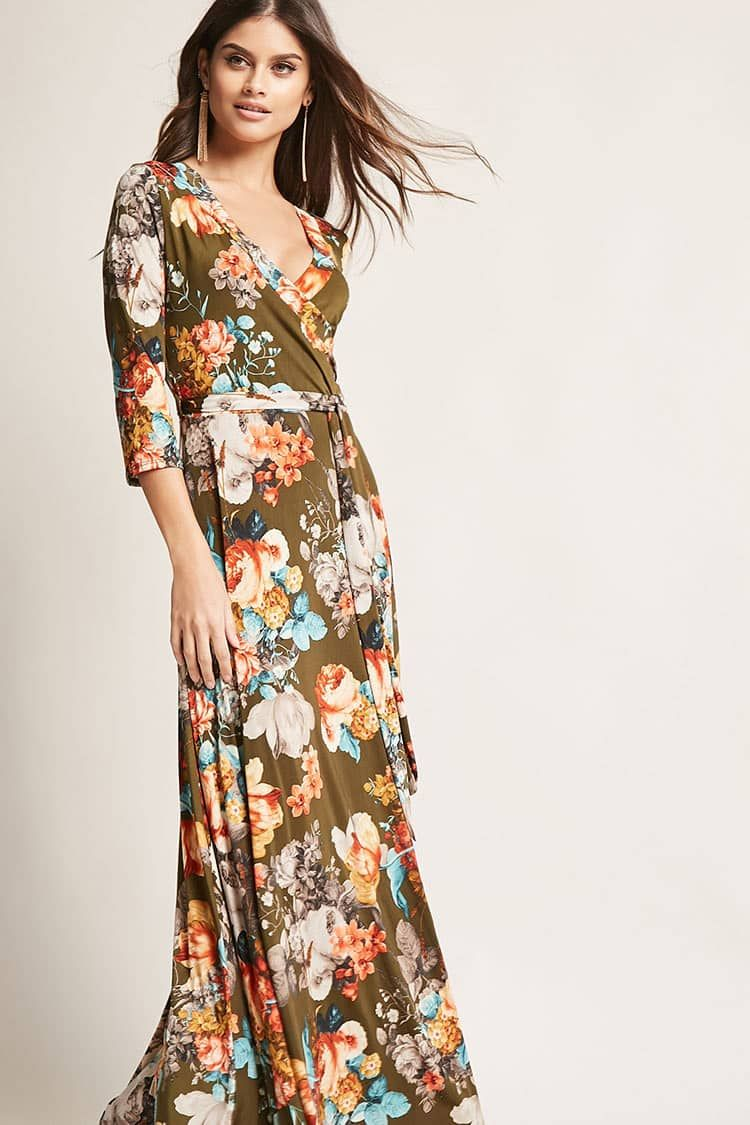 Robe longue florale Robes 2000254001 Forever 21 EU