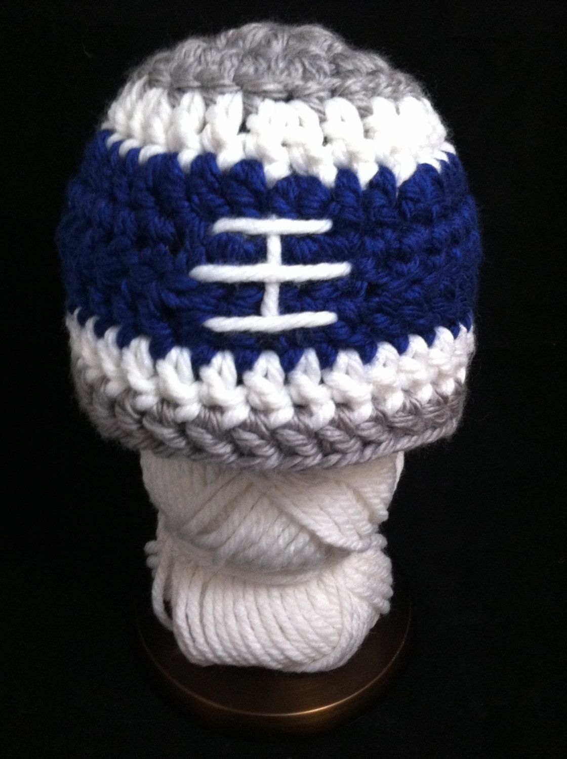 Crochet Football Hat Dallas Cowboys Baby Hat NFL by vintagepetunia ... 955aa16e49e8