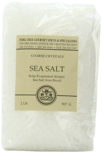 India Tree Brazilian Coarse Sea Salt, 2 lb (Pack of 3) - http://spicegrinder.biz/india-tree-brazilian-coarse-sea-salt-2-lb-pack-of-3/
