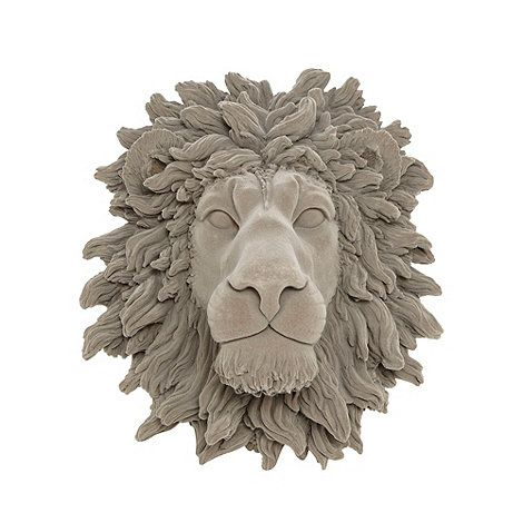 Abigail ahern edition grey lion head wall art debenhams