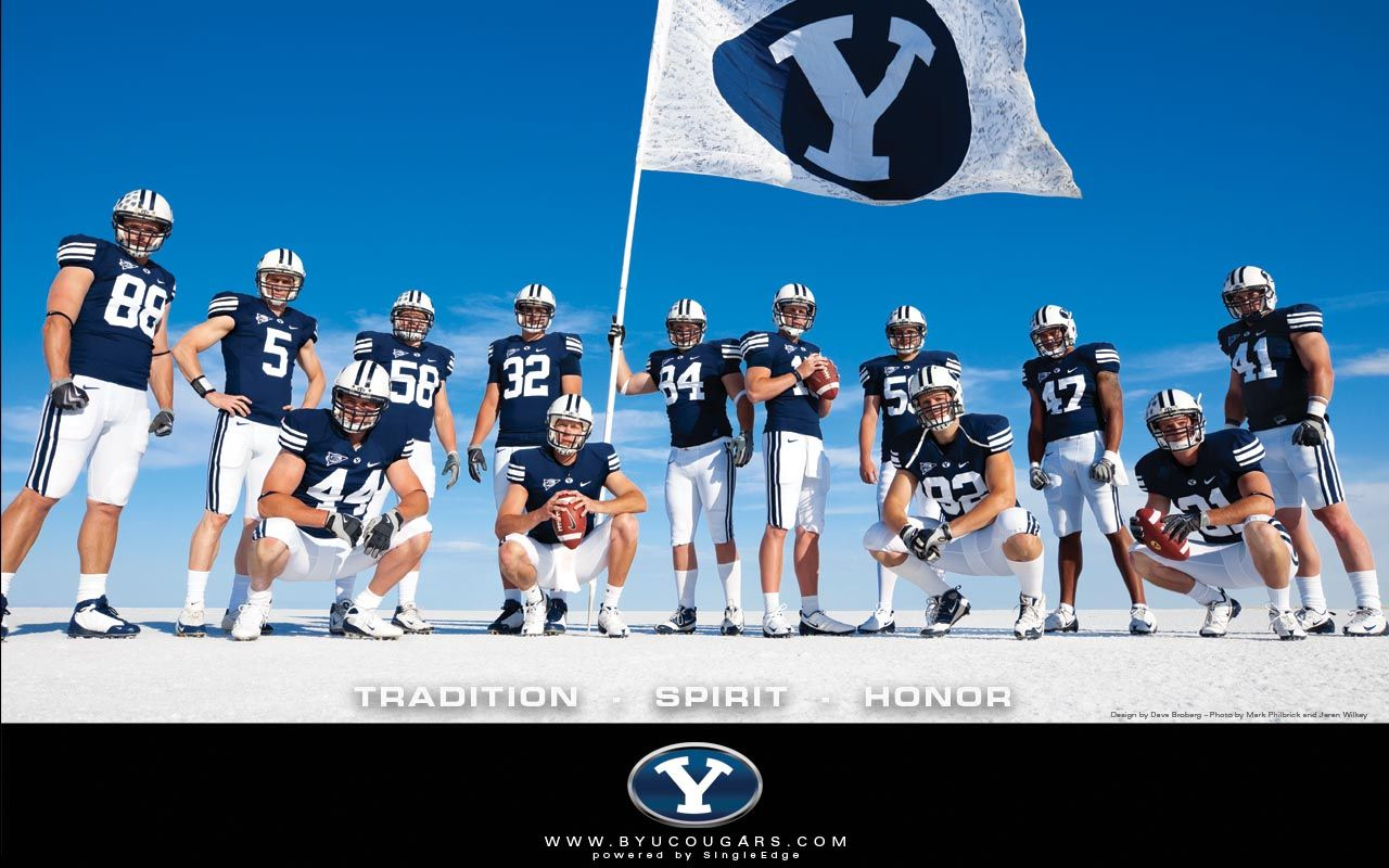 2009 Byu Football Wallpaper Better Late Than Never Byu Football Football Wallpaper Byu Football Players