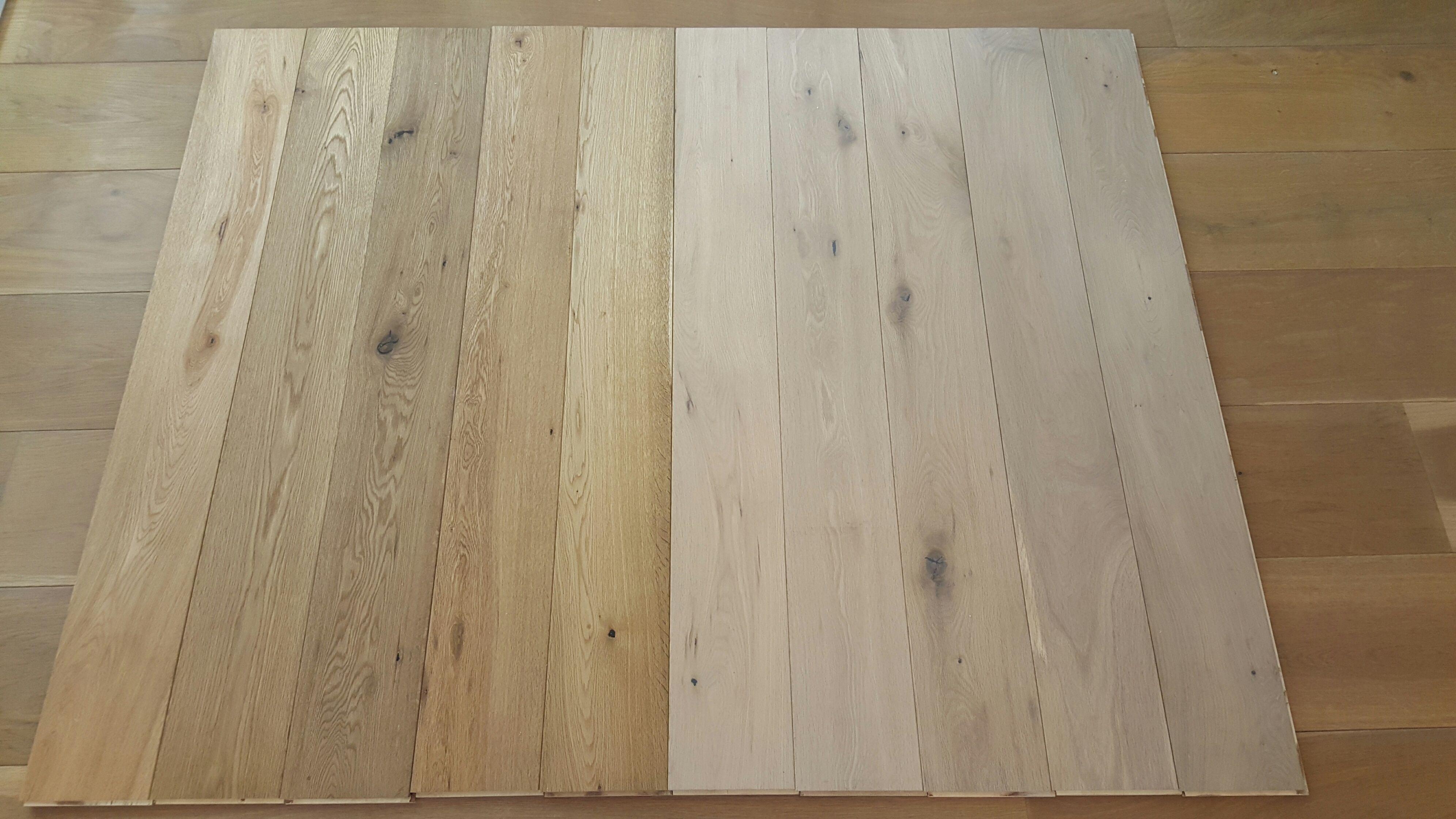 Eiken houten parket vloer cm blank of wit geolied