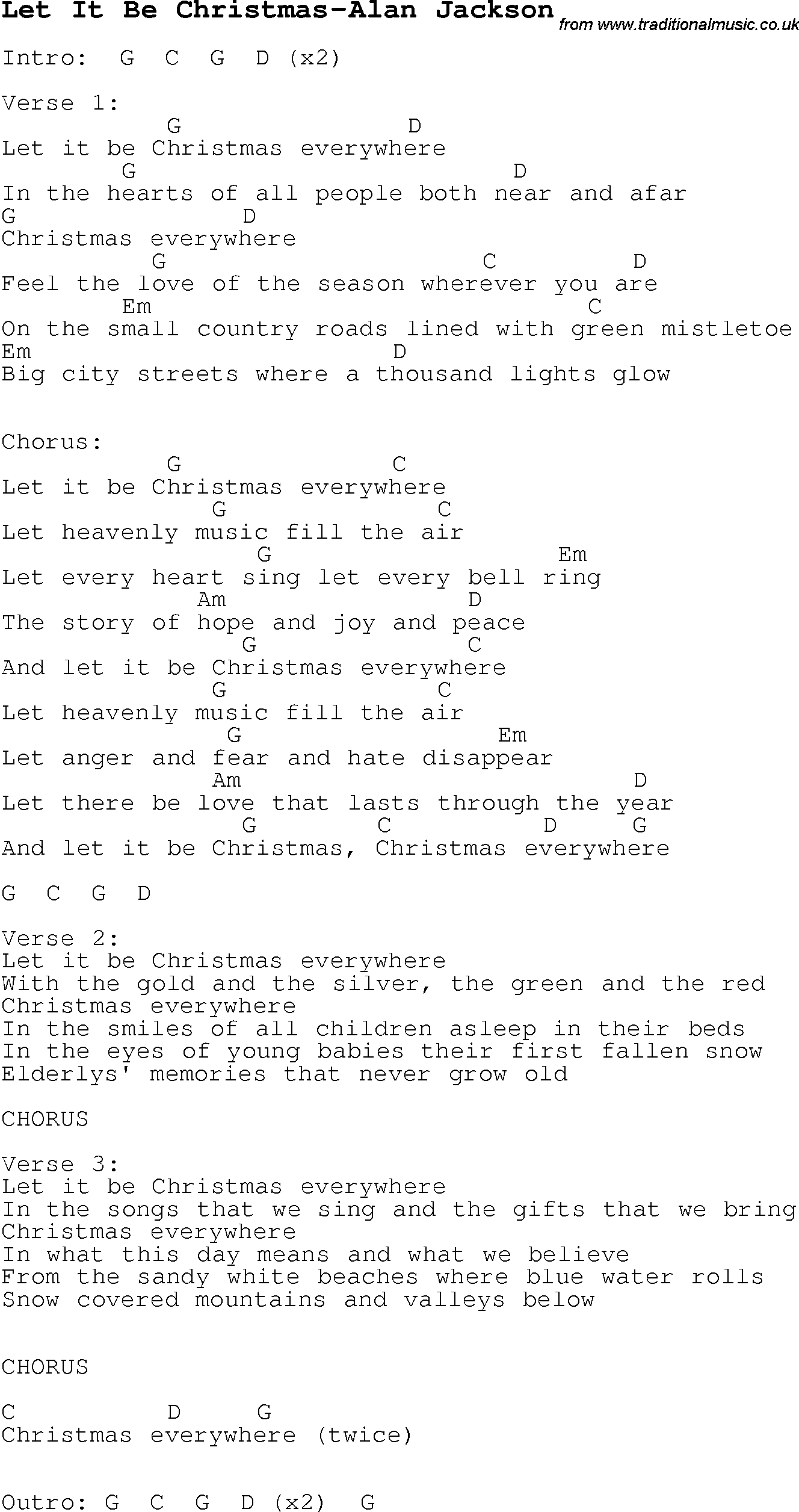 Christmas songs and carols lyrics with chords for guitar banjo christmas songs and carols lyrics with chords for guitar banjo for let it be christmas hexwebz Choice Image
