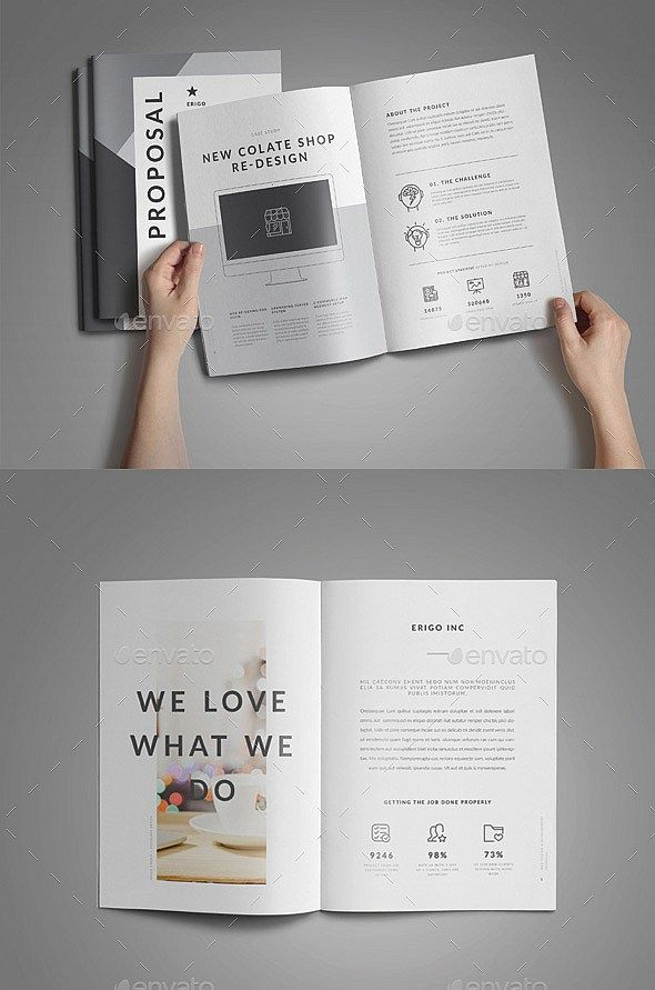 30 Pages Web Design Proposal Template (InDesign, Photoshop