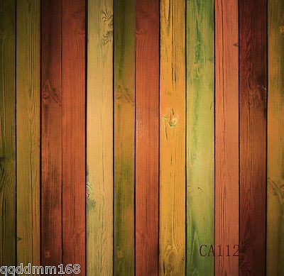 colorful WOOD Vinyl backdrop Photography PhotoProp Studio Background 5x7FT CA112