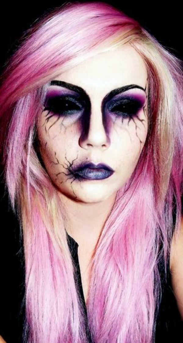Wild Makeup ideas Halloween Costumes \u2013 unusual ideas and tips - face makeup ideas for halloween