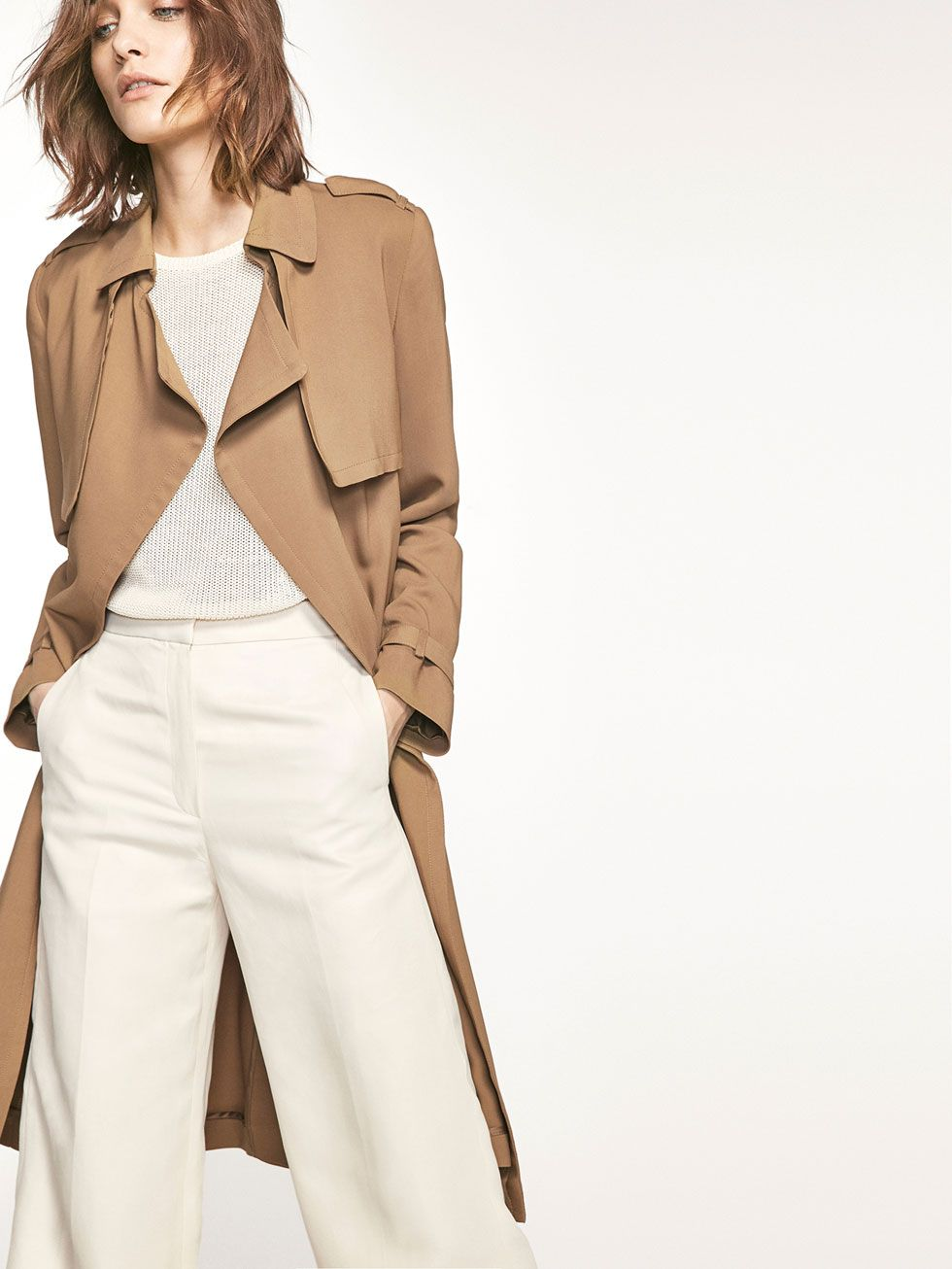 ee3e0c192 Autumn Spring summer 2017 Women´s FLOWING TRENCH COAT at Massimo Dutti for  245. Effortless elegance!