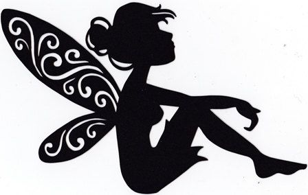 adorable fairy sitting silhouette by hilemanhouse on etsy