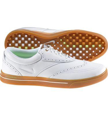 93067689e1444 Nike Men's Lunar Swingtip Leather Golf Shoes (White/White/Gum ...