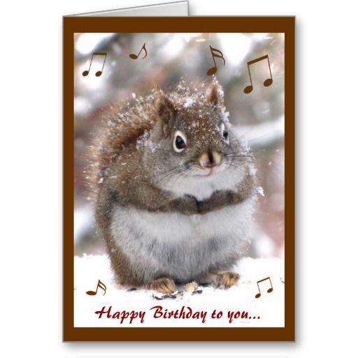 Singing Squirrel Birthday Card – Singing Birthday Cards