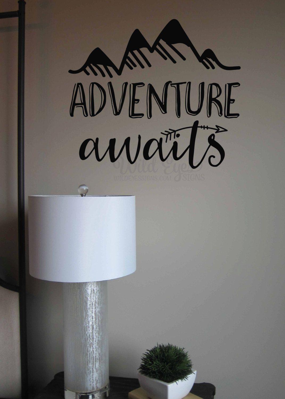 Adventure awaits Vinyl Wall Decal Art Nursery Quote ...