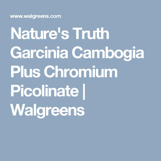 Nature S Truth Garcinia Cambogia Plus Chromium Picolinate
