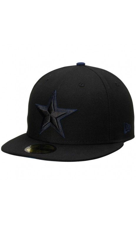 NFL Mens CinNFL Men s Dallas Cowboys New Era Black Pop Flip 59FIFTY Fitted   Hat  sportshat 2be7fdcf9