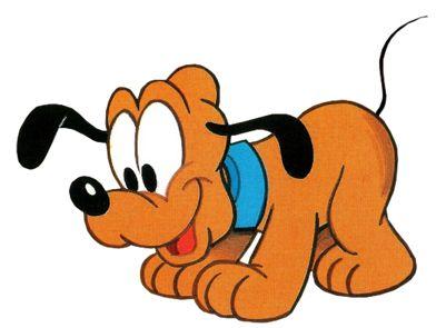 B b pluto de disney peinture dessin anim personnage disney et mickey mouse - Personnage disney bebe ...