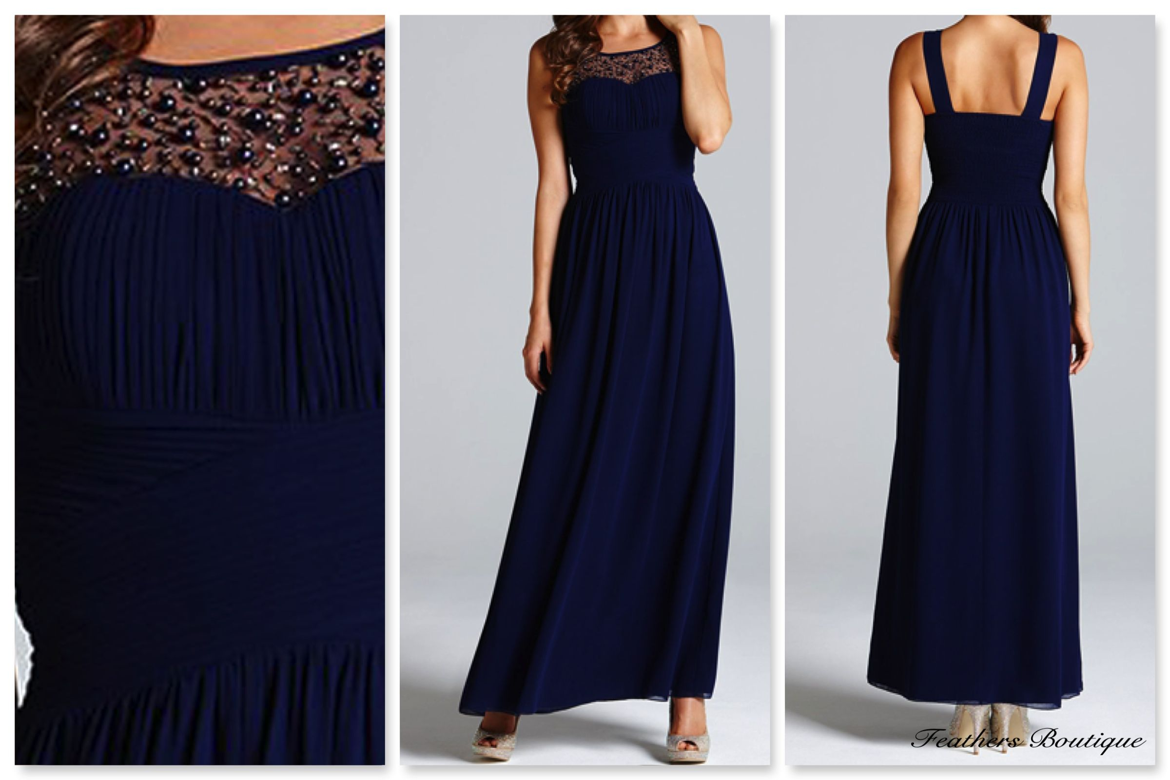 Little Mistress Embellished Detail Maxi Dress in Navy (FB986) Sizes 8,10,12,14 £70  #newin #feathersboutique #liverpool #love #newarrivals #newseason #clothes #clothing #style #stylist #fashion #fashionista #holidays #blogger #bloggers #blog #fblogger #picoftheday #photooftheday #ootd #kimono #dress #maxidress
