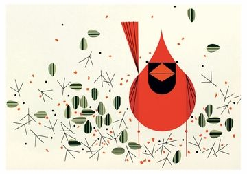 Cardinals Boxed Notecards (art by Charley Harper)