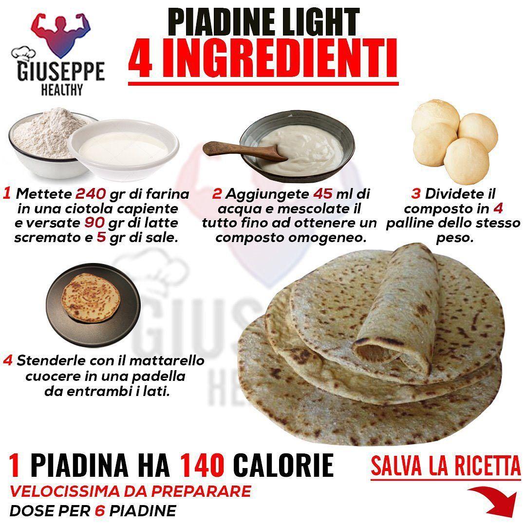 Ricetta Piadina Leggera.Pin Su Piadina Light