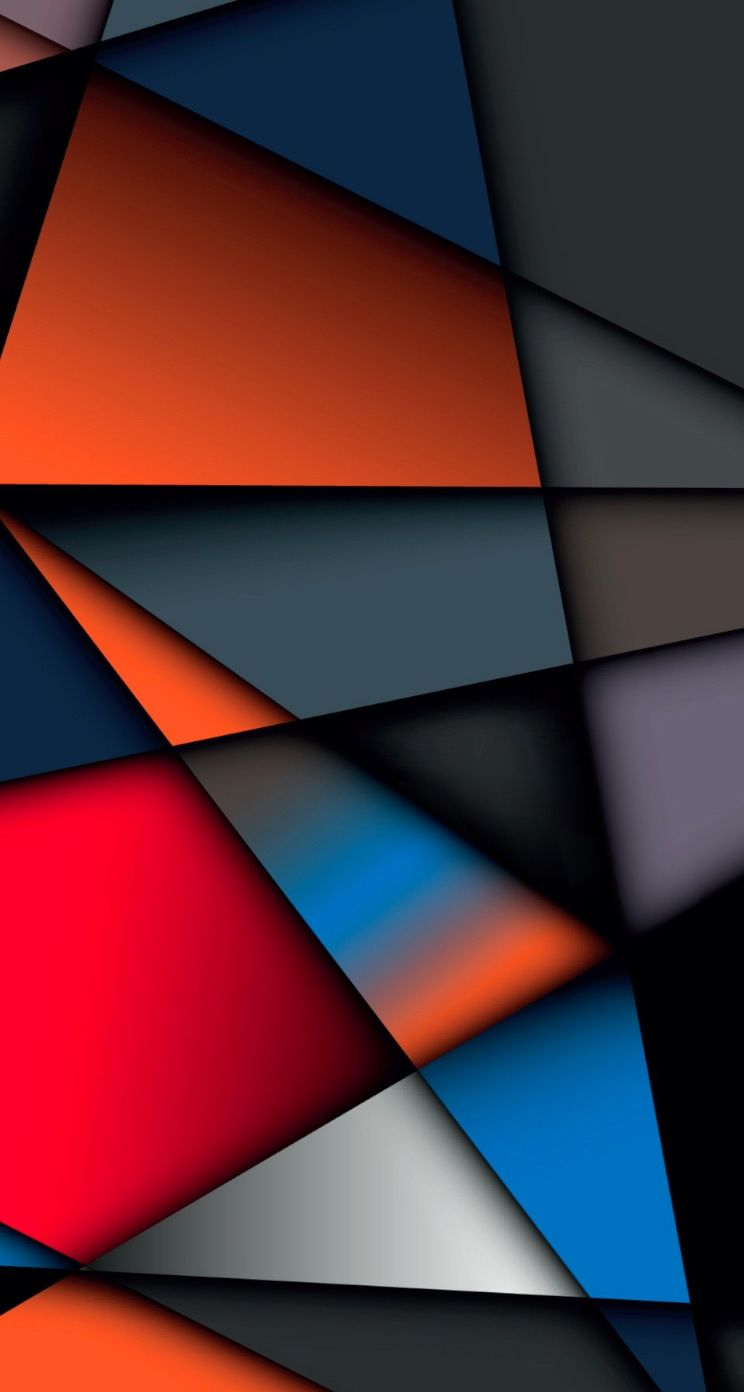 Hd wallpaper for android 5 5 inch - Abstract Multicolor Geometry Shape Iphone 5 Ios7 Wallpaper