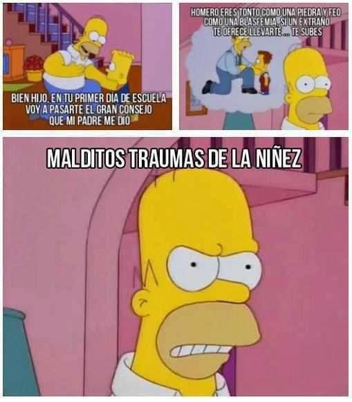 El mejor consejo de primer día de clases. | 14 Veces en las que Homero Simpson demostró ser el mejor papá del mundo