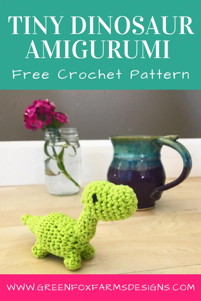 Tiny Dinosaur Amigurumi - Free Pattern • Green Fox Farms Designs